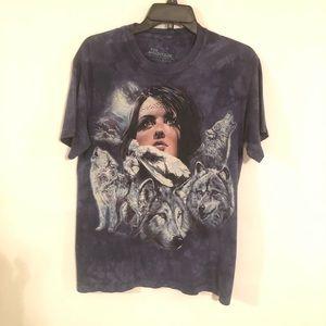 The Mountain Blue Tie Dye T Shirt Unisex  Size S